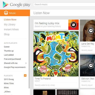 Google Play Music - Music Shop, Streaming Service & Cloud